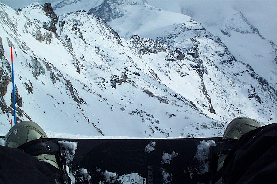 Deszka, hegy, hó